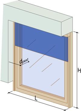 Position de la paroi vitrée dans la baie
