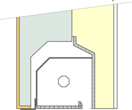 Principe du coffre demi-linteau