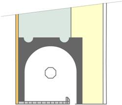 Principe du coffre tunnel, isolation par l'intérieur